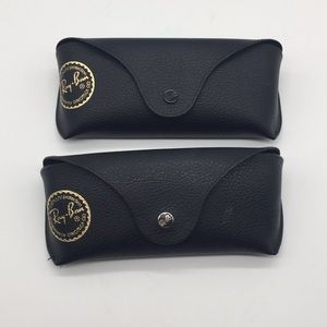 Ray ban authentic sunglasses cases two black